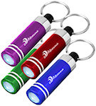 Mini Aluminum LED Light With Key Rings